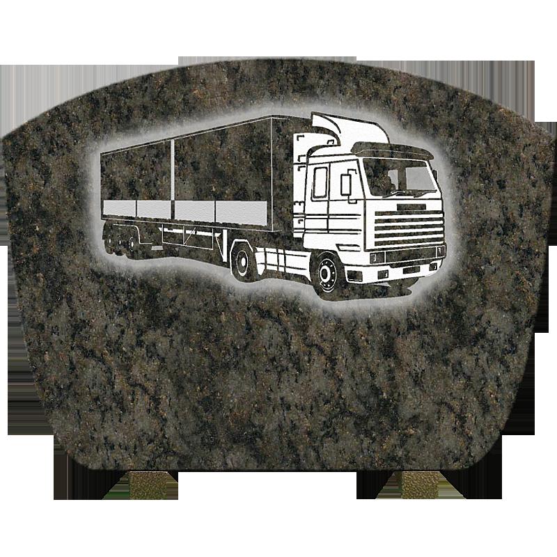 plaque camion en granit. Black Bedroom Furniture Sets. Home Design Ideas