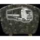 plaque granit 39 cm X 29 cm sur pieds alu motif camion gravé