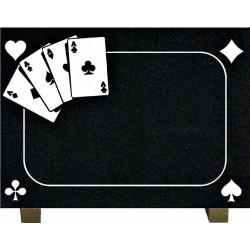 PLAQUE GRANIT POKER