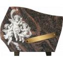 plaque granit angelots