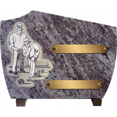 plaque granit pétanque