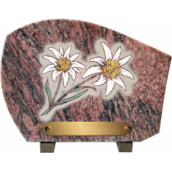 plaque granit edelweiss