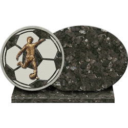 PLAQUE GRANIT FOOTBALL