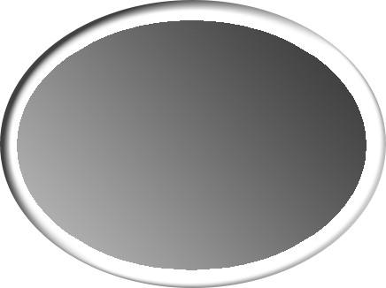 ovale horizontal bord blanc