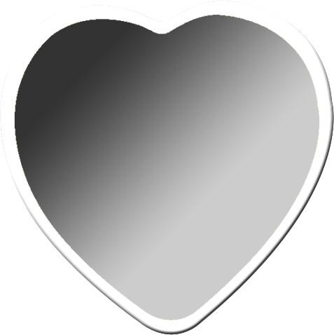 coeur bord blanc