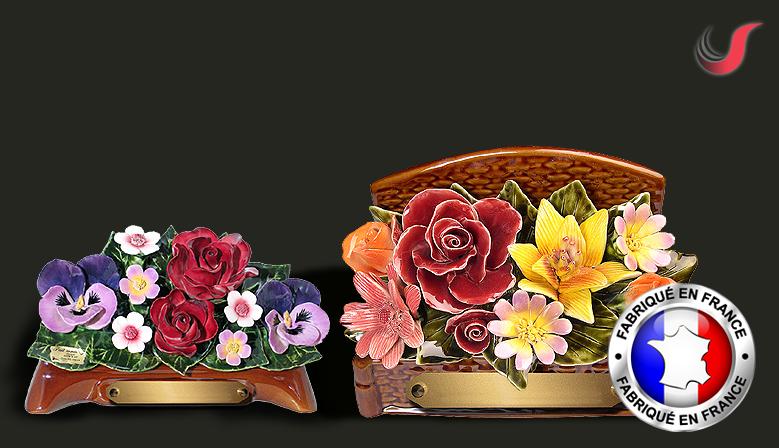 les céramiques florales